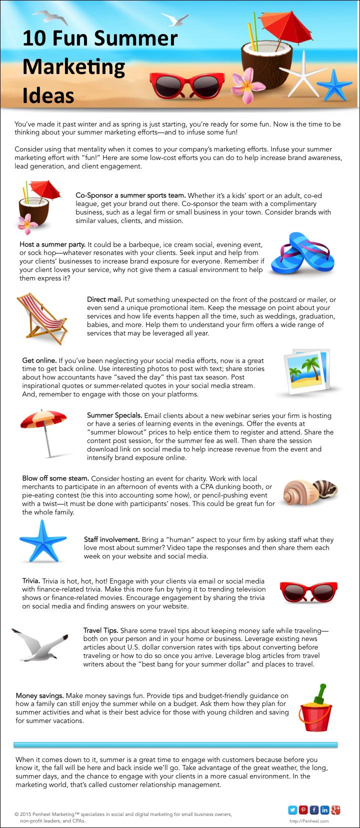 10 Fun Summer Marketing Tips