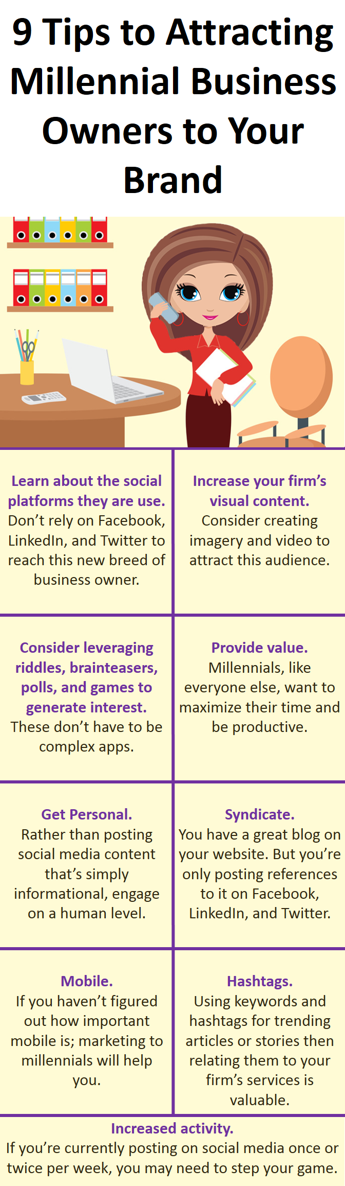 9 tips to attract millennial business owners
