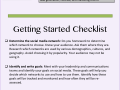 Social Media Processs and Getting Started Checklist