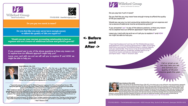 Willeford Before and After Flyer