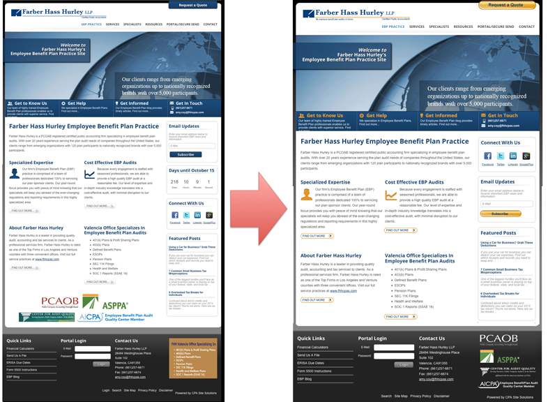Farber Hass Hurley My EBPlan Auditor Site Home Before and After
