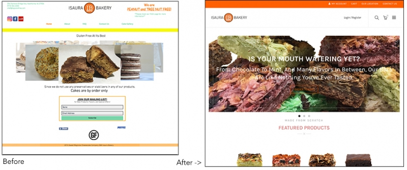 Isaura Bakery Before and After