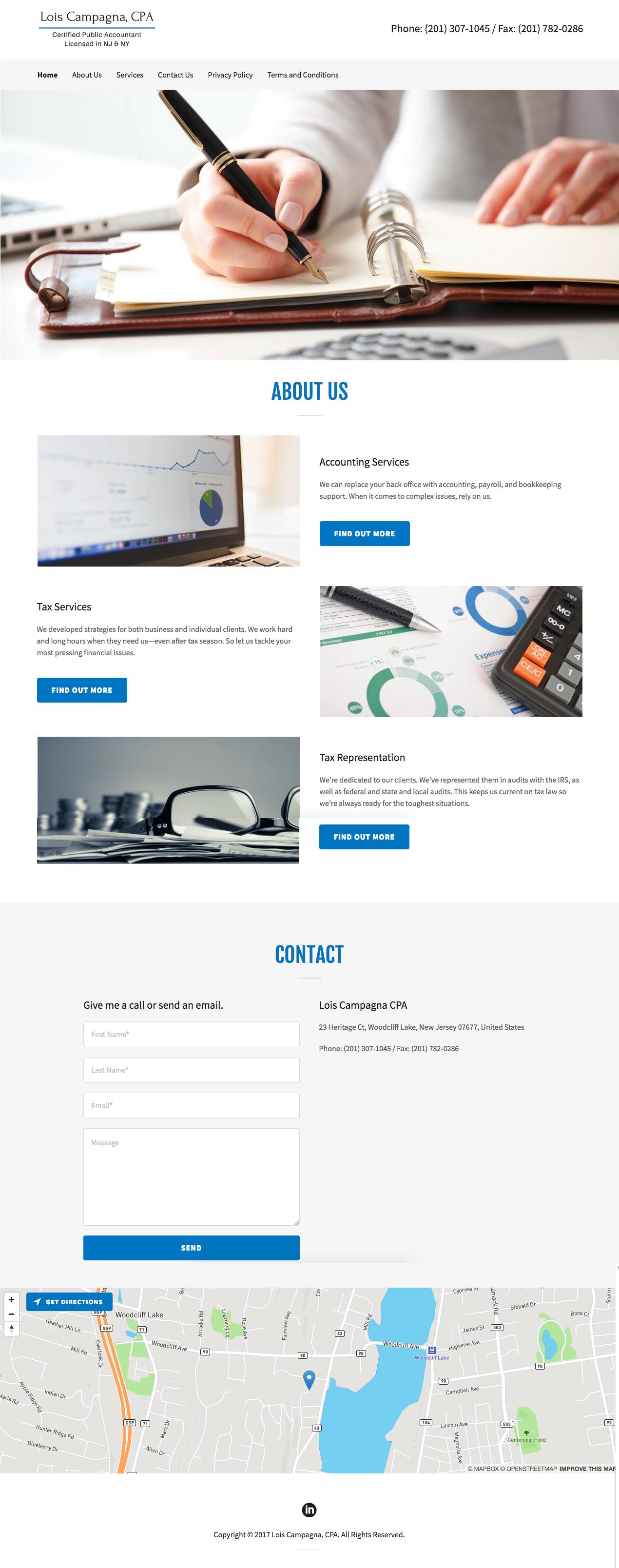 Lois Campagna website home