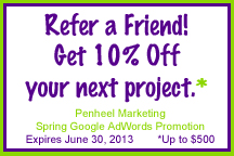 Penheel Marketing Google AdWords Refer a Friend