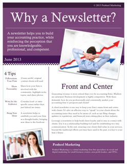 a customer newsletter by David Kandler Editor's Note: The author of this article, David Kandler, is the founder and president of efwaidi.ga, an Internet firm that produces newsletters for companies throughout the United States.