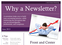 WhyAClientNewsleter_Small Lead Generation with Customer-Focused Newsletters