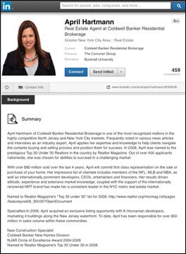 April-Hartman_LI-profile 5 Social Media Marketing Tips for Real Estate Agents