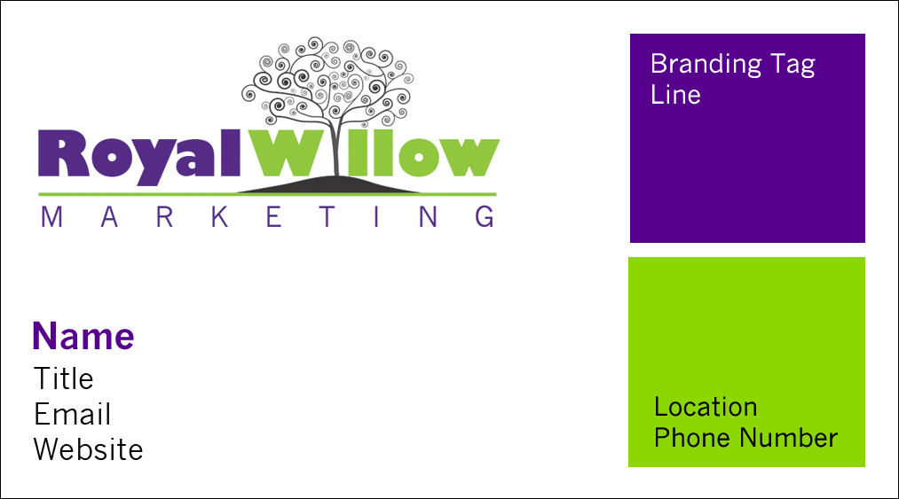 Royal Willow Business Card mock