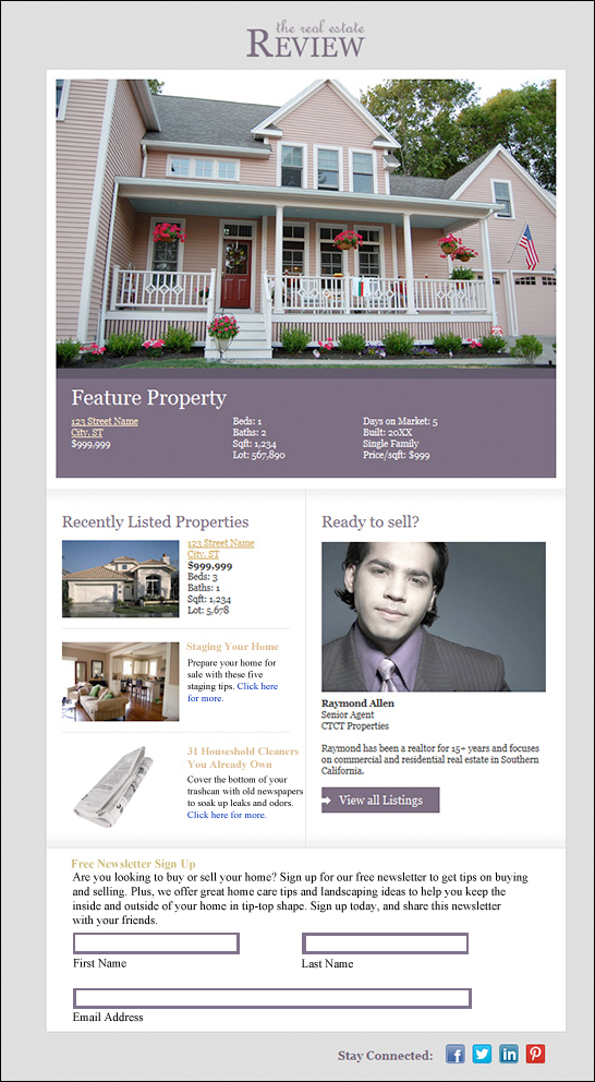 real-estate-newsletter-sample 5 eNewsletter Tips for Real Estate Agents
