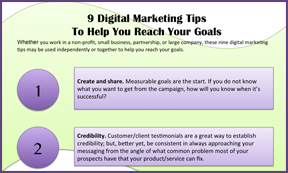 9 digital marekting tips to help you reach your goals