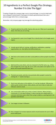10 Google Plus Strategy Tips_web version