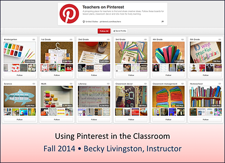 Pinterest-in-Education-Slidedeck-Cover Using Pinterest in the Classroom