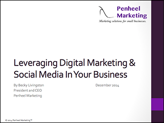 Leveraging Digital Marketing and Social Media in your business slide cover