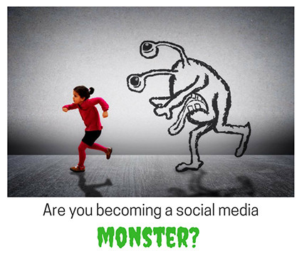 Social-media-monster_GP Are you becoming a social media monster?
