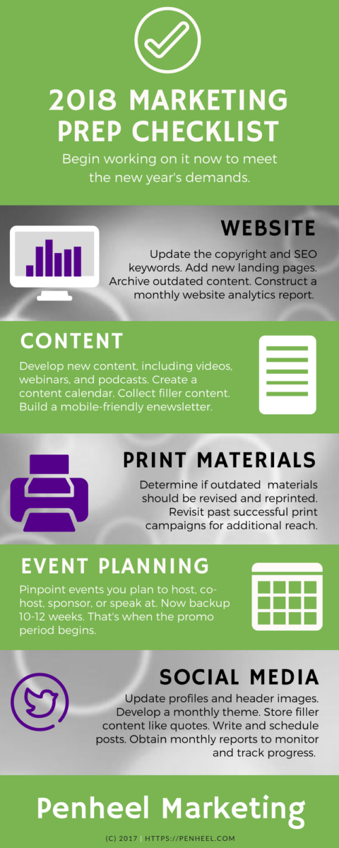 2018-marketing-prep-checklist_infographic 2018 Marketing Prep Checklist