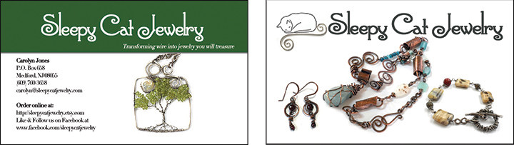 sleep-cat-jewelry-biz-cards Design Portfolio