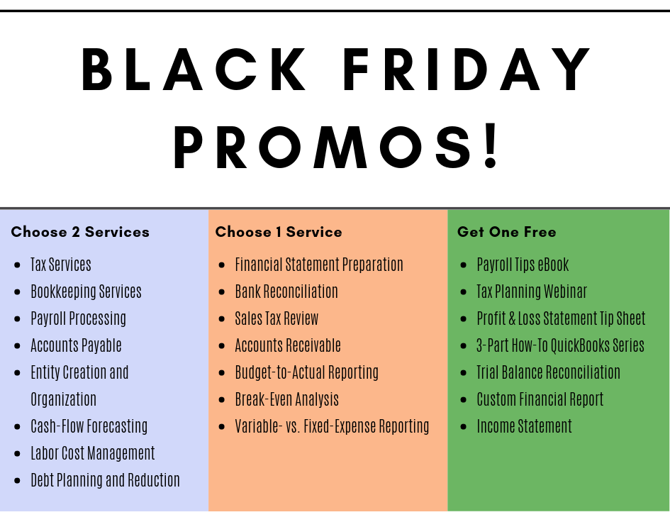 Black-Friday-accounting-promo 5 B2B Black Friday and Cyber Monday Promo Ideas