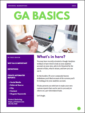 Google Analytics basics ebook cover