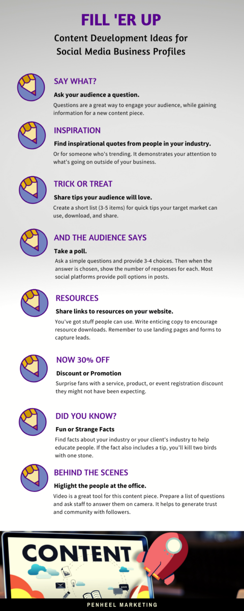 Content-Ideas-infographic 8 Easy Content Development Ideas for Small Business Owners